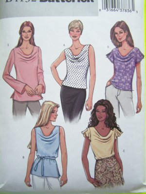 5.00 or less Sewing Pattern Sale Blouse Sz 14 16 18 Drape Front Flutter Sleeveless Shirts Tops 4132