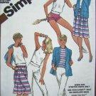5 Dollar sale 1980's Wardrobe Pullover Top Skirt Pants Shorts Jacket B 31.5 Sewing Pattern 9843