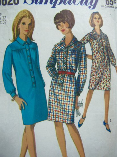 5.00 or less Sewing Pattern Sale 1960s Vintage Dress Simplicity 6626