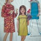 1960's Vintage Girls Dress Plus Size 10.5 Peter Pan or Collarless Long/Short Slv Sewing Pattern 6859