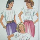 Uncut 1980's Vintage Sewing Pattern Sale Blouse B 31 1/2 Shirt Tucks 6808