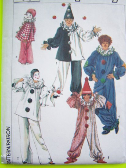 Toddlers Vintage Clown & Hat Halloween Costume Sewing Pattern Boys Girls 2 4 T Child Toddler 5740