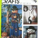 Vintage Craft Sewing Pattern Scarecrow Ghost Snowman Wreath Centerpieces Wall Ornaments