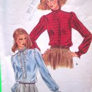 3.00 Vintage Sewing Pattern B 38 Blouse Ruffle Band Collar Long Sleeve Button Up Top 16 Shirt 3953