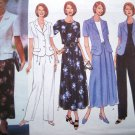 90's Suit Hip Jacket Top Flared Skirt Straight Pants Sz 6 8 10 12 14 Butterick Sewing Pattern 4827