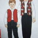 3.00 Child's Sewing Pattern 2 3 4 5 6 6X Boys Girls Lined Vest Straight Leg Pants Simplicity 7295