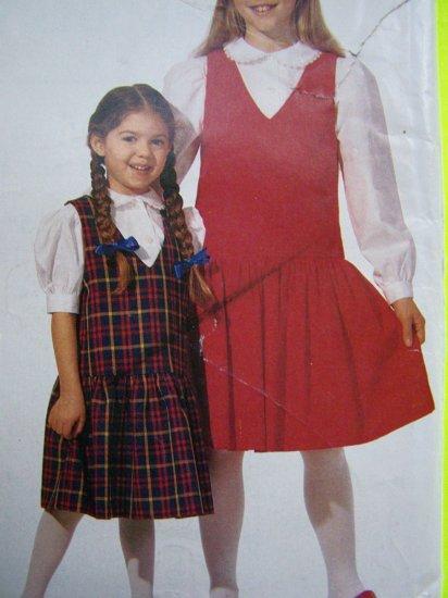 3.00 Sale Girls Jumper Dress Short Long Puff Sleeve Blouse Shirt 7 8 10 12  Sewing Pattern 72