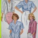 Uncut Vintage Shirt Sewing Pattern Shaped Hem Sz 8 10 12 Long Short & Rolled Up Sleeves 3834