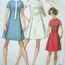60's Vintage Sewing Pattern B 34 Dress Princess Seam Round or Stand Up Collar Mod 8088