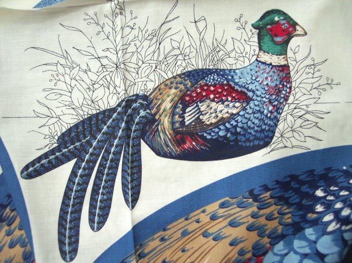 Ringnecked Pheasant Bird Cranston Cotton Fabric Country Pillow Panel Lodge Cabin Decorating