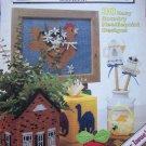 Vintage Plastic Canvas Magazine Patterns # 1 Mar/Apr 1989 30 Country Needlepoint Premier Issue