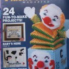 Sale 80's Vintage Plastic Canvas Patterns Magazine # 4 Sept/oct 1989 Purse Jack in Box