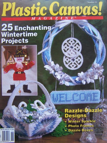 $4.00 Vintage Plastic Canvas Magazine Needlework Patterns # 11 Nov/Dec 1990 Christmas Back Issue