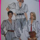 1980's Vintage Vogue Sewing Pattern Misses Blouses 8 10 12 Tunic Top Shirt 8608
