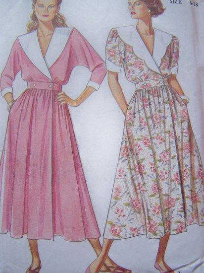 Misses 6 8 10 12 14 16 18 Sailor Collar Dress Wrap Button Waist Vintage Sewing Pattern 6531