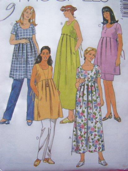 Maternity Tie Back Dress Top Sundress Pull on Pants Skirt Sewing Pattern Sz 6 8 10 # 2103