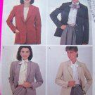 Misses Size 12 Lined Blazer Suit Jacket Semi Fitted For Ultrasuede McCall's Sewing Pattern 8290