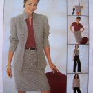 Misses 6 8 10 12 Suit Lined Jacket Top Straight Skirt Flare Pants Non Stop Wardrobe McCall's 3937