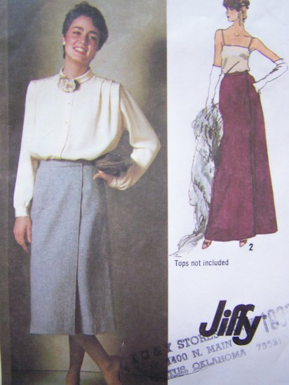 1970's Vintage Sewing Pattern Wrap Skirt Midi Maxi Size 12 Easy Simplicity 9113
