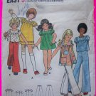 Girls Vintage Sewing Pattern Smock Top Babydoll Tent Dress Puff Sleeves Sz 8 Pants 3077