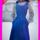 Vintage Sewing Pattern Jumper A Line Dress Sundress Sz 14 16 18 Butterick 3535