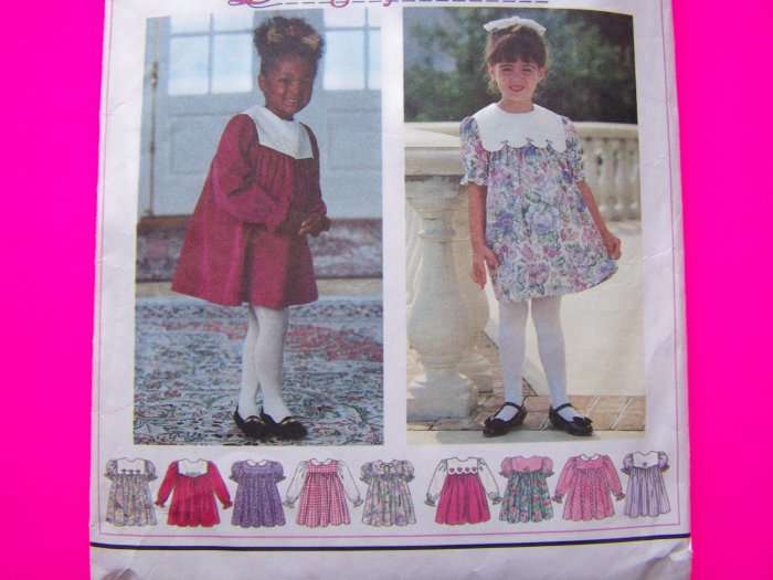 Toddler Tent Dress Puffed Short Sleeves 2 Toddler Scalloped Pointed Peter Pan Sewing Pattern 9376