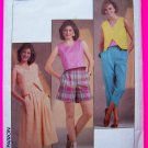 Vintage Sewing Pattern Sun Top Skirt Cropped Capri Pants Sz 6 8 10 Shorts 6854