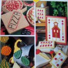 Plastic Canvas Pattern Tic Tac Toe Games People Play Box, Pansy Rose Doorstop, Teacher Set 9/92