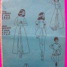 Vintage Girls Pantskirt Mini Maxi w/ Detachable Bib Overall Sewing Pattern Sz 10 Pant Skirt  S5385