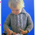 USA 1 Cent S&H Vintage Knitting Pattern Baby Jacket with Cable Front Babies Toddlers Sweater