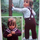 1 Cent USA S&H Vintage Knitting Pattern Quick Knit Overalls Cardigan Sweater Toddlers Boys Girls Pk1