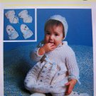 Vintage Baby's Bonnet Mittens Bootees Leggings Infants Booties Knitting Pattern 9