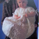 USA 1 Cent S&H Vintage Knitting Pattern Christening Dress Gown Babies Toddlers Baby's