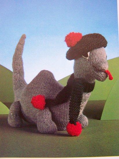 USA 1 Cent SHip Loch Ness Monster Vintage Knitting Pattern Knit Lock Nessie