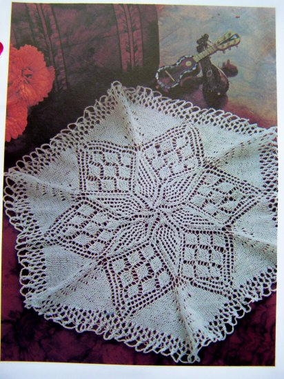 USA 1 Penny Shipping Special Vintage Knitting Pattern Lace Doily Lacy Knitted