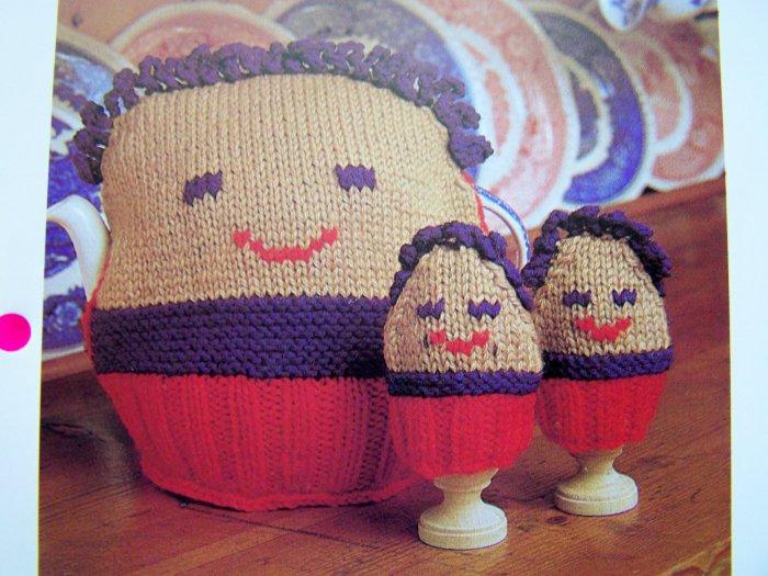 1 Cent S&H USA Tea Cozies Egg Cozy 1980's Vintage Knitting Pattern Kitchen Decor