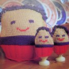 1 Cent S&H USA Tea Cozies Egg Cozy 1980's Vintage Knitting Pattern Kitchen Decor