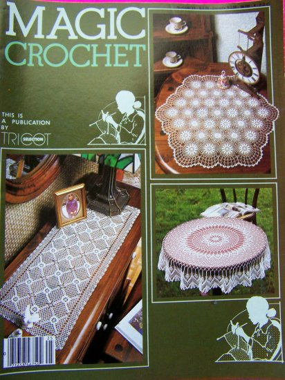 Magic Crochet Magazine Vintage Thread Crocheting Patterns # 25 June 1983 Curtains Lace Edging