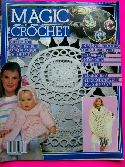 Vintage Magic Crochet Magazine # 33 Irish Mat Patchwork Baby Misses Dress Thread Back Issue 1980's