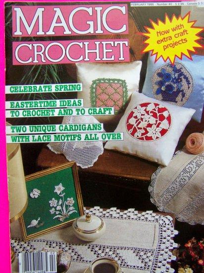 Vintage Magic Crochet Patterns Magazine # 40 February 1986 Crocheting Pattern Book