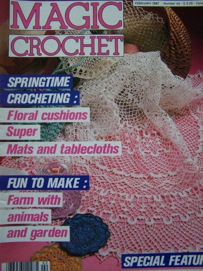 Magic Crochet Magazine # 46 Thread Pattern Book Special Origins of Lace