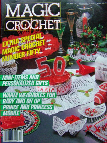 Magic Crochet Pattern Magazines # 50 Vintage Special Christmas Edition $1 USA S&H