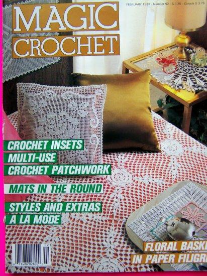 Magic Crochet Pattern Magazine 52 Vintage 1988 Patchwork Crocheting Tips