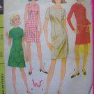 60's Mod Vintage Sewing Pattern Dress A Line or Slim French Dart Sleeveless Short Long Sleeve 9087
