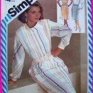 Vintage Sewing Pattern Dress Semi Full Skirt  Henry Grethel B 34 Sleeveless Dolman Long Slv 6269
