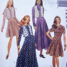 Sewing Pattern Dress Princess Seam Flared Skirt & Vest Misses  6 8 10 Easy McCall's 7254