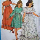 Empire Dress Wedding Flower Girls Puff Long Short Angel Sleeves Sz 10 Vintage Sewing Pattern 8323
