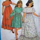 Empire Dress Wedding Flower Girls Puff Long Short Angel Sleeves Sz 10 Vintage Sewing Pattern 8323