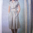1970's Vintage Sewing Pattern Shirtwaist Dress Sz 10 12 Elastic Waist Full Skirt Kimono Sleeves 9020