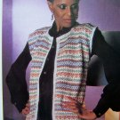 Metallic Fairisle Evening Jacket Sweater Womens Bust 32 34 36 38 Vintage Knitting Pattern